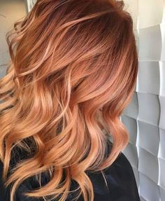 Strawberry Blonde Hair Color, Red Blonde Hair, Balayage Hair Blonde, Red Hair For Blondes, Blonde Hair Red Lowlights, Copper Blonde Hair, Balayage Hair Copper, Ginger Hair Color, Hair Color And Cut