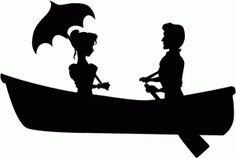 Silhouette Design Store - View Design #73749: vintage romantic boat rideSILHOUETTE ART