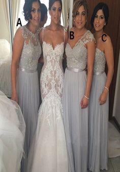 Popular Mismatched Bridesmaid dresses Chiffon Formal Floor Length Cheap bridesmaid dresses, BD0413