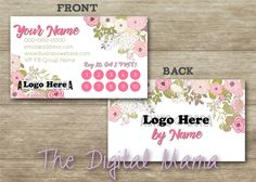 Agnes & Dora Customer Loyalty Punch Card Business Card Design - Agnes and…