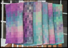 Ravelry: FiberGeek's 4 Block 4 Shaft Summer and Winter Towels Weaving Designs, Weaving Projects, Weaving Art, Weaving Patterns, Loom Weaving, Hand Weaving, Scarf Patterns, Woven Scarves, Knitting Needles