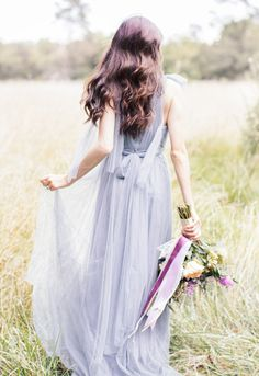 Lavender wedding dress: http://www.stylemepretty.com/little-black-book-blog/2014/10/20/dreamy-something-blue-wedding-inspiration/ | Photography: Sally Pinera - http://www.sallypinera.com/