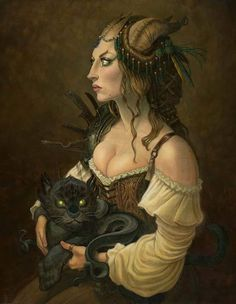 """Tony DiTerlizzi, """"Portrait of a Young Tiefling""""."""