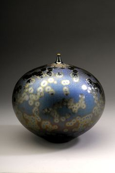 Hideaki Miyamura - Bottle with Sea Foam Blue Glaze, Porcelain
