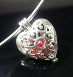 Heart Memory Bead Locket  Ash cremains are added by ChristinaNixon, $49.00