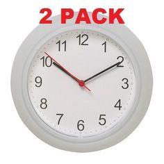 "Amazon.com: Ikea Wall Clock White (2 Pack) 9.75"": Kitchen & Dining"