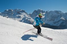 Exciting skiing in the Brenta Dolomites