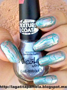 Gatita's nail art: Nicole By OPI Silver Texture- Craquelado plateado