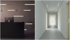 Panel con luz led pared techo