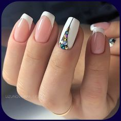 47 Stunning Short Square Nails Summer Design For Manicure Nails - Page 2 of 47 44 Nail Manicure, Diy Nails, Cute Nails, Pretty Nails, Glitter Nails, Colorful Nail Designs, Nail Art Designs, Nails Design, French Nail Designs