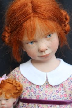 i just love the expressions on these dolls.... The hyper-realist artist dolls Laurence Ruet.