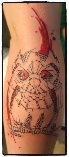 owl, jacob pedersen, tattoo