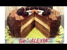 Rețetă tort de ciocolată Alexia - CristineCuisine - YouTube Romanian Desserts, Something Sweet, Macarons, Sweets, Youtube, Food, Pie, Romanian Recipes, Cakes