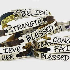 """Love these new inspirational bracelets! #goodworks #inspiration #feelinggood"""