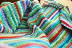 little woollie: Skinny stripes - all single crochet
