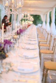 Tablescape | Long Tables + Candelabras