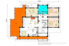 CH3-550 - IKIHIRSI® Log Homes, Floor Plans, Model, House, Design, Timber Homes, Wood Homes, Home, Haus