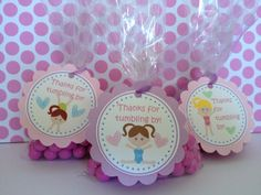 NEW  Gymnastics Party Favor Tags Set of 12 by Kbettega on Etsy, $10.00