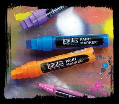 Liquitex - Professional Paint Markers, an outstanding range of professional water-based acrylic markers for artists. Lightfast and permanent, Liquitex ...