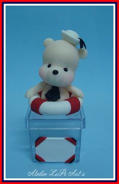 Bear Cakes, Smurfs, Biscuits, Hello Kitty, Character, Cold Porcelain Ornaments, Sailor Baby, Formal Blouses, Jars
