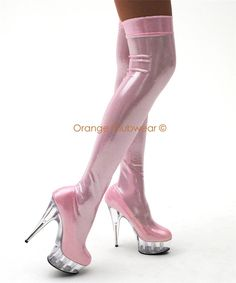 Pink Thigh High Boots For Women | ... Womens Sexy Platform Thigh High Baby Pink…