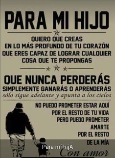 Te amo hijo seba y Carlos Son Quotes, Life Quotes, Message To My Son, I Love My Son, Spanish Quotes, Continue Reading, Positive Quotes, Positive Phrases, Inspirational Quotes