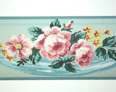 wallpaper pink roses – Etsy