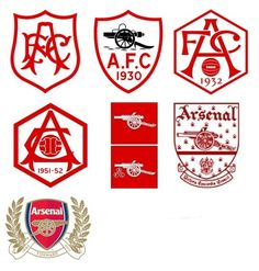L'évolution des logos de Premier League - Arsenal
