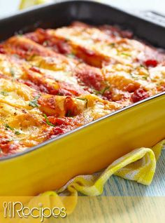This chicken enchilada recipe has a great south-of-the-border flavor ...