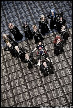our Kingdom Hearts Organization XIII (+ one dead Sora) cosplay group from a few years ago. Still a cool shot. <3 <<<< Awesome!