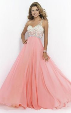 One Shoulder Sweetheart Backless Chiffon A Line Sleeveless Floor Length Prom Dress