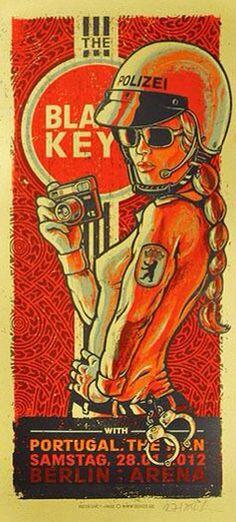 - The Black Keys Concert Poster Artwork - Rock Posters, Band Posters, Movie Posters, Music Artwork, Art Music, The Black Keys, Art Graphique, Grafik Design, Vintage Posters