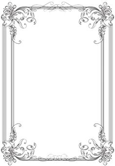 Free black Clip Art Borders and Frames weddings | Custom Vintage Frame Four by kingoftheswingers
