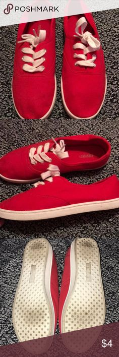 Forever 21 Sneakers Once-used fire truck red Forever 21 tennis shoes. Size 7. Forever 21 Shoes Sneakers
