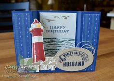 Bridge Fold Card with Stampin' Up!'s Guy Greetings and High Tide Pop Out Cards, Fun Fold Cards, Folded Cards, 3d Cards, Masculine Birthday Cards, Birthday Cards For Men, Masculine Cards, Male Birthday, Bridge Card