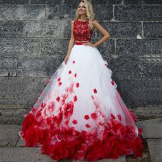 Plus Size Prom Dress, Applique White Wedding Dresses Light Long Bateau Sleeveless Zipper Dresses Shop plus-sized prom dresses for curvy figures and plus-size party dresses. Ball gowns for prom in plus sizes and short plus-sized prom dresses Tulle Prom Dress, Homecoming Dresses, Dress Up, Rose Dress, Bridesmaid Dresses, Two Piece Wedding Dress, Red Wedding Dresses, Sequin Wedding, Red White Wedding Dress