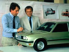 OG | 1982 BMW 3 Series - E30 | Claus Luthe (right) with a scale clay model