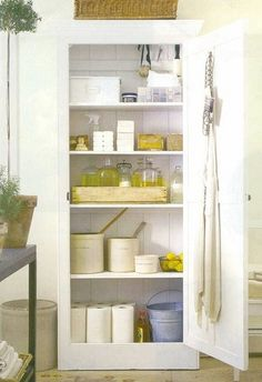 I want my cleaning closet to look like this!
