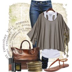 Fall Work Outfit – Replace Jeans With Slacks Or Keep As Is For Fridays - Click for More...