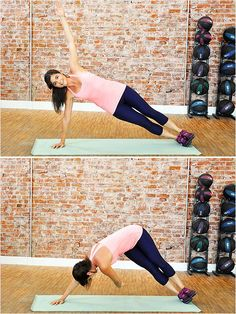 We do this in iron yoga class and I hate it. But it works. 5 Moves to Minimize Your Muffin Top