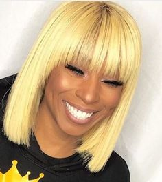 613 Blonde Bundles With Closure Brazilian Straight Hair Bundles With Closure Remy Human Hair Weave Extenstions. off promotion factory cheap price,DHL worldwide shipping, store coupon available. Short Straight Hair, Short Hair Cuts, Short Hair Styles, Natural Hair Styles, Straight Weave, Thick Hair, Blonde Bob With Bangs, Honey Blonde Hair, Bob Bangs