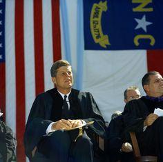 President John F. Kennedy Gives Speech at University of North Carolina, Chapel Hill.