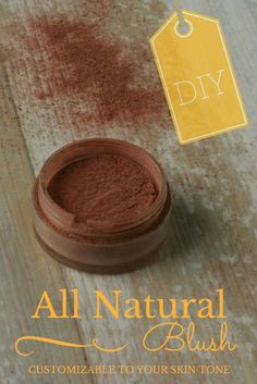 All Natural DIY Blush: Customizable To Your Skin Tone // DeliciousObsessions.com