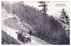 View of the Malahat Highway on Vancouver Island, B., known as Tunnel Hill. By Leonard Frank circa Vintage Postcards, Vintage Photos, Emily Carr, Travel Stuff, Vancouver Island, History Facts, Island Life, Buckets, Old Pictures
