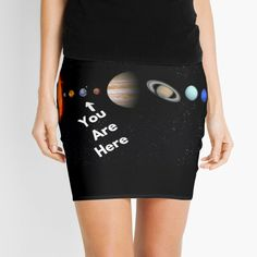 'Solar System Map' Mini Skirt by Personal Product Designers Solar System Map, Designers, Mini Skirts, Map Of Solar System, Mini Skirt