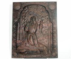 Religious gift Saint Serafim Sarovskiy religious icon Wood carving, black walnut wood , home decor Religious Icons, Religious Gifts, Teak Oil, All Icon, Wood Carvings, Walnut Wood, Out Of Style, First Love, Art Pieces