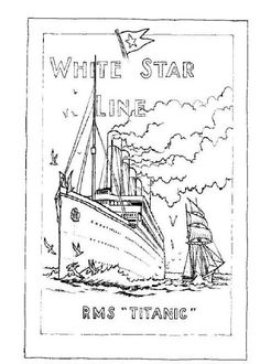 Coloring page Titanic Titanic on Kids-n-Fun.co.uk. On Kids-n-Fun you will always find the best coloring pages first!