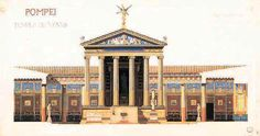 One of the possible reconstruction of the temple of Venus at Pompeii