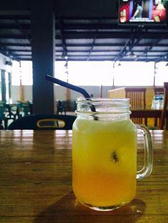 Juice Apple in Break Coffee Shop