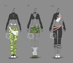 Some Outfit Adopts #14 - sold by Nahemii-san.deviantart.com on @DeviantArt